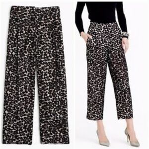 J Crew Collection French Lace Black Cropped Pant